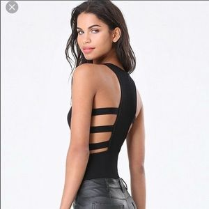 Bebe cutout body suit
